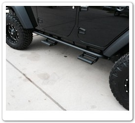 Jeep Rock Rails with Detachable Steps by N-Fab
